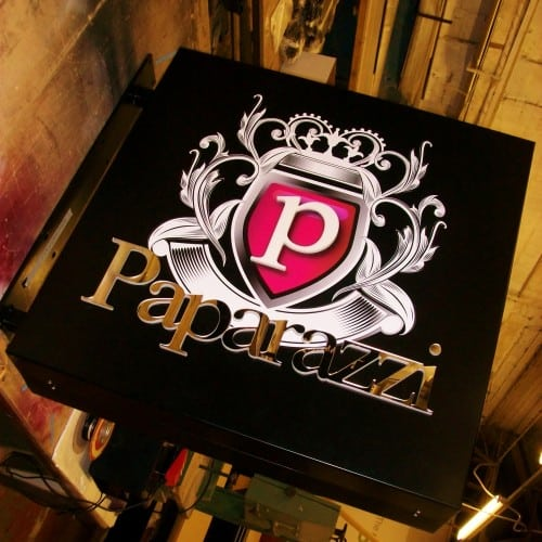 Paparazzi projection signs metal fabrication