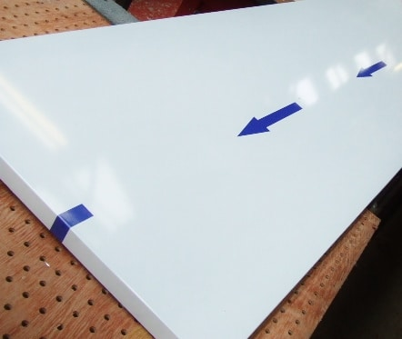 Blank aluminium composite sign tray